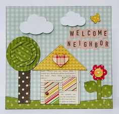#October Afternoon Modern Homemaker and #GlueArts Adhesives. Designer Patti Milazzo