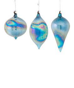 blue iridescent ornament set by melrose zulilyfinds frozen christmas