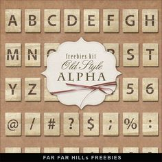 New Freebies Kit of Old Style Alpha:Far Far Hill - Free database of digital illustrations and papers Alpha Letter, Far Hills, Digital Scrapbooking Freebies, Digital Papers, Craft Images, Cool Lettering, Printable Letters, Scrapbook Embellishments, Alphabet And Numbers
