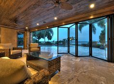 I really want to do folding patio doors off my living room. It would be a perfect transition to my outdoor living room, blending the two spaces.