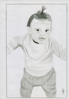 Retrato a pedido. Hoja A4 en grafito