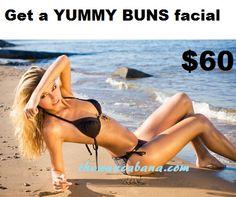 Facial for the cheeks behind you at Wax Cabana