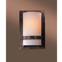 From Minka-Lavery who specialize in Quality, Design and Value comes a hand-to-find vertical round mission sconce with Genuine Opal Glass and Rust Bronze Finish on all metalwork. Candle Sconces, Wall Sconces, Slate Flooring, Minka, Bronze Finish, Metal Working, Wall Lights, Industrial, Traditional