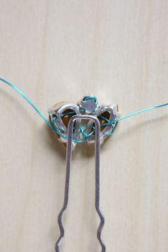 Diamante Hair Pins DIY Tutorial