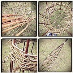 Willow weaving workshop. I made an Obelisk!