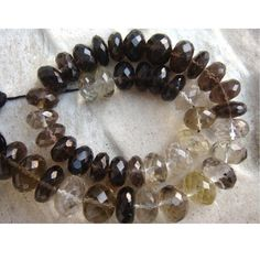 Smoky Quartz  Smoky Quartz Shaded Micro Faceted by gemsforjewels, $34.40