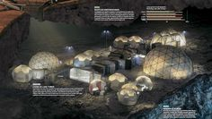 Schematics of early stage of the Olympus Town / NatGeo's 'Mars' series