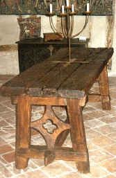medieval cruciform table in oak | thanet manor | pinterest