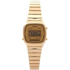 Digital Watch LA670WGA-9DF Casio ❤ liked on Polyvore featuring jewelry, watches, casio, retro digital watch, retro watches, casio watches and retro jewelry