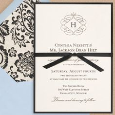 Invitation with Backing
