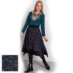 Platinum Μαύρη Medi Φούστα '' Blue Prints '' - fm775-w Lace Skirt, Midi Skirt, Blue Prints, Skirts, Fashion, Moda, Midi Skirts, Fashion Styles, Skirt