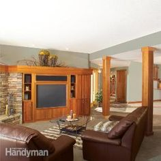 How to Finish a Basement: Framing and Insulating.   Save time and future problems by using our easy to install, dust free, water proof, fire and mildew resistant, Wahoo Walls system. Our aluminum track does not rust or mold!  http://www.wahoowalls.com/