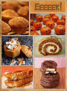 Love the tangerine/pumpkins   Delicious desserts for October and Halloween parties