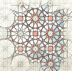Rafael Araujo. Alhambra´s tiling patterns ink+watercolours/ paper 2016