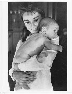 Audrey Hepburn with her son, Sean, 1961.