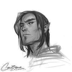 Just a little lunchtime doodle of grumpy grumpy Lorcan! :D by charliebowater