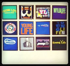 Framing special t-shirts to display and preserve them.