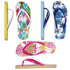 3 PACK NOVELTY PRINT FLIP FLOPS: Put some summer on your feet! Three pairs of summery printed flip-flops in one pack. You can find these & more in #AvonOutlet at www.youravon.com/jantunes