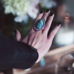 Anel Turquesa #turquoise #ring #boho