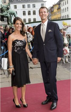 Prince Joachim and Marie attend a performance at the Royal Theatre in Copenhagen June 25, 201