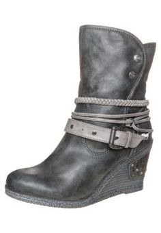 Mustang Wedge boots - grey