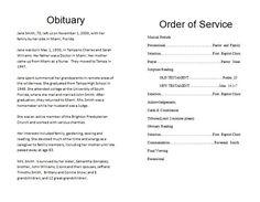 The Funeral Memorial Program Blog How To Write A Obituary