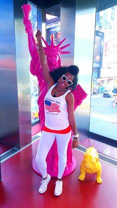 Memorial Day @newyorkcity All white casuals Leggings & Tank