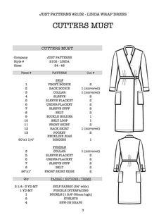 NEW Linda wrap dress sewing pattern size 34-46 Just Patterns