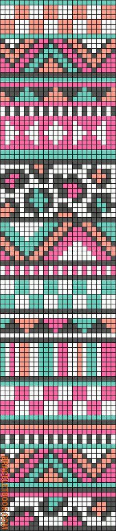 Alpha Friendship Bracelet Pattern. BraceletBook.com Can use for tapestry crochet????