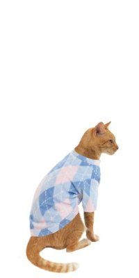 Get Snuggle Fleece (TM) Argyle Pajamas for Cats at buydogsweaters.com #thecatspajamas