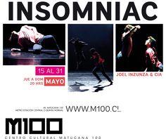Danza contemporánea INSOMNIAC en Matucana 100 Joel Inzunza & Compañía