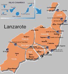 Lanzarote - una mappa per orientarsi nel nostro imperdibile viaggio. Scopri di più > http://www.jonas.it/vacanza_canarie__lanzarote_1264.html