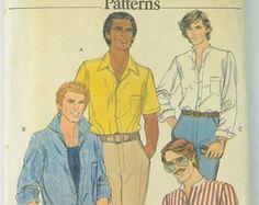 Check out Vogue 7118 Pattern Men's Shirt, Sewing Pattern, Size 40, UNCUT on vintagecornerbazaar