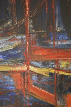 marina sea  http://pl.dawanda.com/product/106670127-przystan-morska  #sztuka #malarstwo #abstrakcja #olej #płótno #przyatań #morska #morze #niebieski #czerwony #żólty #wyobraźnia #wyatrój #wnętrza #oil