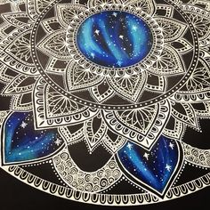 Details ✨ #mandala #mandalas #art #arts #artsy #artist #artists #artistic #artwork #artistsoninstagram #artistsofinstagram #instaart #instaartist #instadaily #creative #colourful #pattern #doodle #doodles #drawing #drawings #zentangle #beautiful #closeup #galaxy #stars