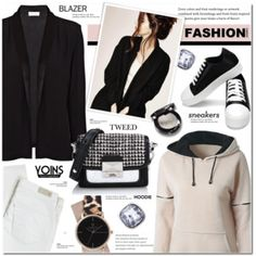 Blazer.sweatshirt. sneakers- Yoins 12