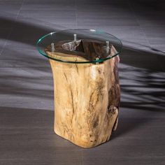 Suar Side Table With Glass Top | Artemano