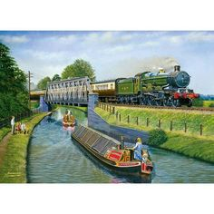 A huge range of jigsaws, jigsaw puzzles, mind puzzles and accessories for all ages that you can buy online. Train Posters, Railway Posters, Nostalgic Art, Steam Railway, Train Art, Train Pictures, British Rail, Winter Painting, Great Western