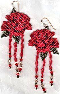"""Earrings """"Roses"""" Tutorial"""