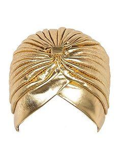Shop Golden PU Turban Hat from choies.com .Free shipping Worldwide.$3.9