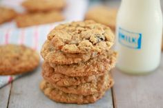 Enjoy easy cookie recipes, chef-tested and approved, including my Best Ever Chocolate Chip Cookies, 3 Ingredient Peanut Butter Cookies & many more! Chocolate Chip Cookies, Sugar Free Peanut Butter Cookies, Peanut Butter Oatmeal, Vegan Peanut Butter, Oatmeal Raisin Cookies, Chocolate Chips, Vegan Oatmeal, Biscuits Aux Raisins, Oatmeal Biscuits