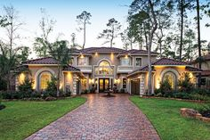 layout option...with brick and stone...not stucco...and shingles