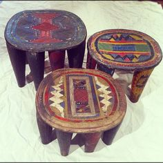 Nigerian stools carved from a single stump (Taken with Instagram at Reliquary)