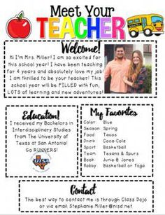 Meet The Teacher Letter Editable By Funfirstiefactory Tpt Letter To Students, Letter To Teacher, Letter To Parents, Parents As Teachers, New Teachers, Back To School Night, Welcome Back To School, First Day Of School, Teacher Introduction Letter