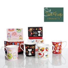 ¡Mugs Babushka! Mugs en porcelana 3+1 con caja de regalo. Contiene 4 unidades. http://www.elretirobogota.com/esp/?dt_portfolio=tea-shop