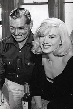 Clark Gable and #MarilynMonroe, 1961    Photo by Inge Morath    1,372 notes   27 April 2012  Reblog