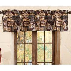 Blue Ridge Trading Whitetail Dreams Valance 88 W x 15 L Multi