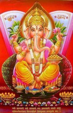 Sri Ganesh, Ganesh Lord, Shiva Hindu, Shiva Shakti, Hindu Deities, Hindu Art, Lord Shiva, Lord Ganesha Paintings, Ganesha Art