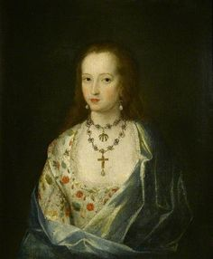 Anne Hawtrey, Wife of John Saunder, Daughter of Sir William Hawtrey   							by Robert Peake(follower of)