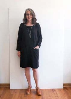Uniform Dress | Grainline Studio Bodice Pattern, Tunic Pattern, Uniform Dress, Shirt Dress, Dressmaking, Hemline, Nice Dresses, Cold Shoulder Dress, High Neck Dress